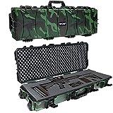 jOYjOB Hard Rifle Shotgun Cases 40 inch with Foam IP67 IK08, All Weather Airsoft Gun Cases Premium Watertight Tactical Gun Case