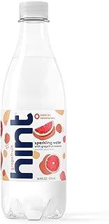 Hint Sparkling Water Grapefruit, (Pack of 12) 16.9 Ounce Bottles, Unsweetened Grapefruit-Infused Sparkling Water,  Zero Sugar, Zero Calories, Zero Sweeteners, Zero Artificial Flavors