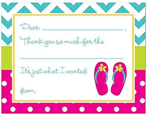 20 rose Sandals Flip Flops Enfants Fill-in Thank You voitureds by MyExpression