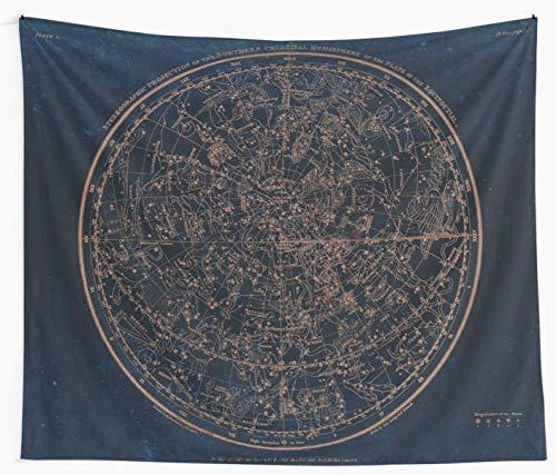 AdoDecor Constelaciones del hemisferio Norte Tapiz de Pared Cubierta Toalla de Playa Manta de Picnic Estera de Yoga Decoración del hogar 150x200cm