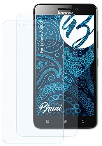 Bruni Schutzfolie kompatibel mit Lenovo A5000 Folie, glasklare Bildschirmschutzfolie (2X)