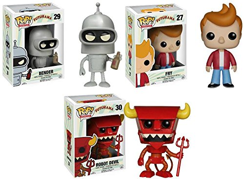 Funko Pop! Futurama: Fry + Bender + Robot Devil - TV Vinyl Figure Set New