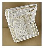 Les Célébrations - 3 cestas rectangulares para decoración de caramelos, regalo para boda, Henna, compromiso, ceremonia