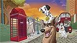 XHJY Puzzle De Madera-Juguetes Educativos para Adultos Juegos Infantiles-Juguetes Educativos Decoración De Rompecabezasla Aventura Londinense De 101 Dálmatas II Patch 500 Pieces(52cm x 38 cm)