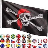 FLAGMASTER Fahne Flagge, 24 Verschiedene Fahnen zur Wahl, Metallösen zur Befestigung, 3 Jahre Garantie