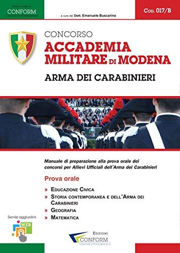 Accademia Militare di Modena. Arma dei Carabinieri. Prova Orale