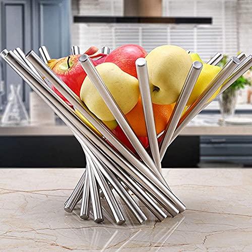 Opslag opklapbare RVS fruitschaal mand Huishoudelijk Keuken Accessoires Turn scherm disk tray