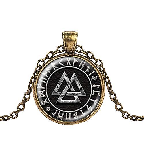 Norwegen Valknut Heidnischen Symbol Amulett Anhänger Männer Schmuck Halskette Viking Skandinavischen Odin Der Nordischen Wikinger Krieger