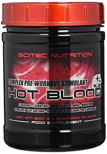 Scitec Nutrition Hot Blood 3.0 Complejo estimulante de pre-entrenamieto, sabor guaraná - 300 g