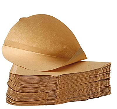Filtropa Unbleached Coffee Filter Papers Size 4 (Four), 100% Natural, Pack of 100