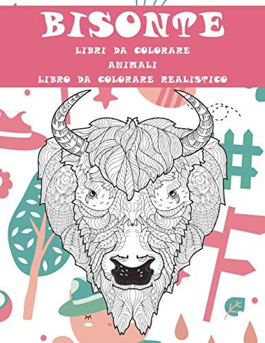 Libri da colorare - Libro da colorare realistico - Animali - Bisonte