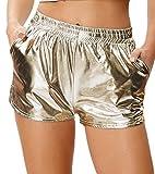 Kate Kasin Pantalon Court Femme Taille Haute Or Clair XXL KK862-2