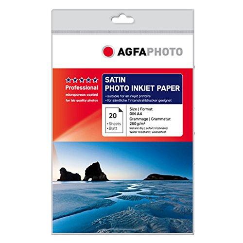 AgfaPhoto AP26020A4S adecuado para Papel fotográfico de inyección de tinta A4 20 Lados 260gr satén