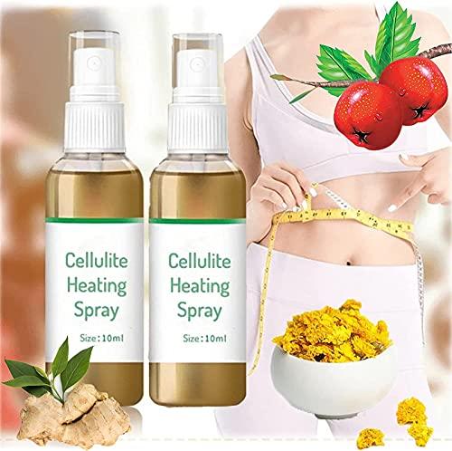 Burnup Ultimate Cellulitis Spray Calefacción, Quemador de grasa Rápido, Spray adelgazante, Ginecomastia Cellulitis, Spray corporal para eliminación de celulitis para mujeres y hombres (2 unidades)