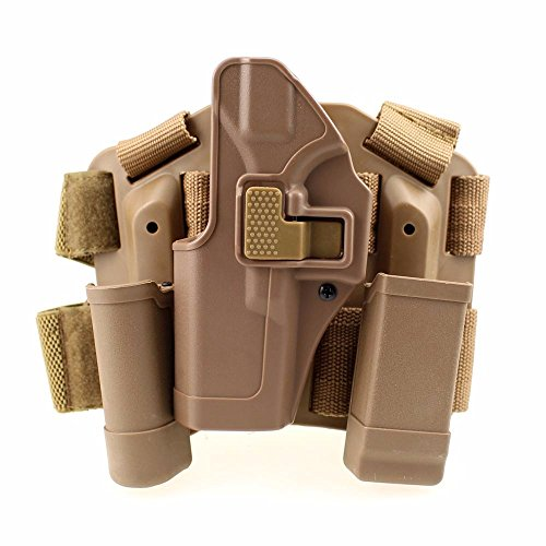 Tactical Leg Holster Left Hand Paddle Thigh Belt Drop Pistol...