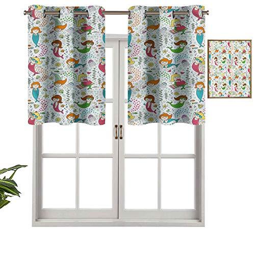 Hiiiman Cenefa opaca de alta calidad para niñas con gafas de sol, juego de 2, 106,7 x 60,9 cm, paneles opacos decorativos para el hogar para dormitorio