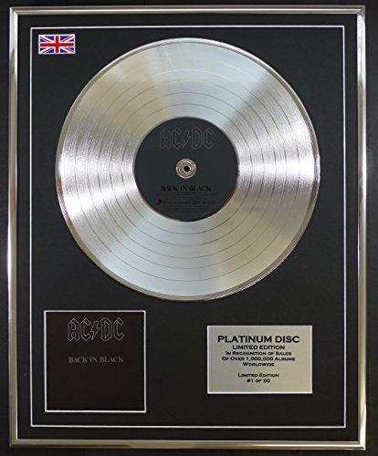 Everythingcollectible AC DC/Limitierte Edition Platin Schallplatte/Back IN Black