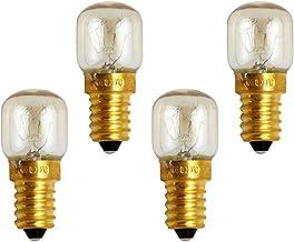 SOLUSTRE E14 25W kleine gloeilamp, ovenlamp, magnetronlamp, warmwit, tot 300 °C, hittebestendig 4 stuks per verpakking