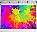 PHMOJEN Colorful Graffiti Backdrop Abstract Paint Splash Background for Photography Hip Hop Theme Birthday Party Decoration Art Studio Props 10x7ft PPH348