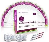 test ovulazione, 50 test di ovulazione ultrasensibili (20miu/ml) + 50 × tazza di urina, test di ovulazione risultato affidabile e rapido