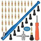 43 unids / set de la válvula de la válvula de la válvula del neumático del coche Kit de la herramienta de la herramienta de la instalación de las herramientas de instalación de los vehículos eléctrico