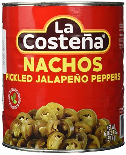La Costena Jalapeno Nacho Scheiben | 2800gr | Mexikanische Küche | Jalapenos in Scheiben geschnitten | mild bis mittelscharf | Zu Enchiladas oder Quesadillas | Hervorragender Geschmack