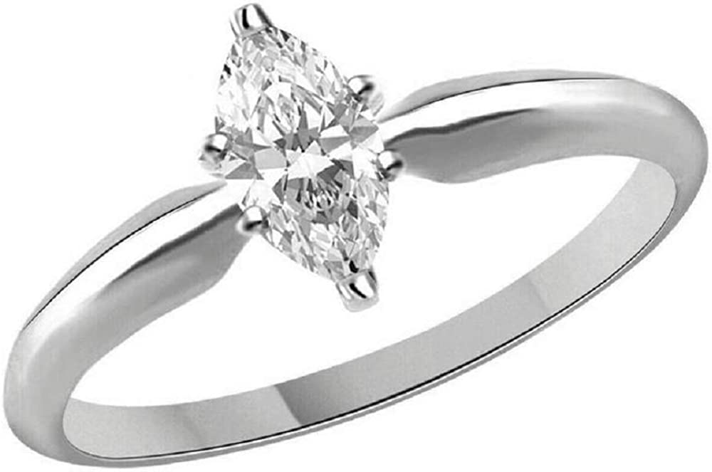 Ritika 爆買い送料無料 Created 国内即発送 Marquise Cut White 14 Diamond 925 Silver Sterling