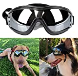 NVTED Dog Sunglasses Dog Goggles, UV Protection Windproof Dustproof Fogproof Pet Glasses Eye Wear Protection with Adjustable Strap for Medium or Large Dog