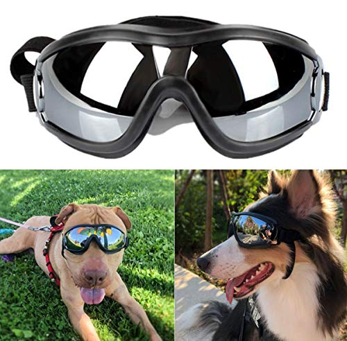 NVTED Dog Sunglasses Dog Goggles, UV Protection Windproof Dustproof Fogproof Pet Glasses Eye Wear...