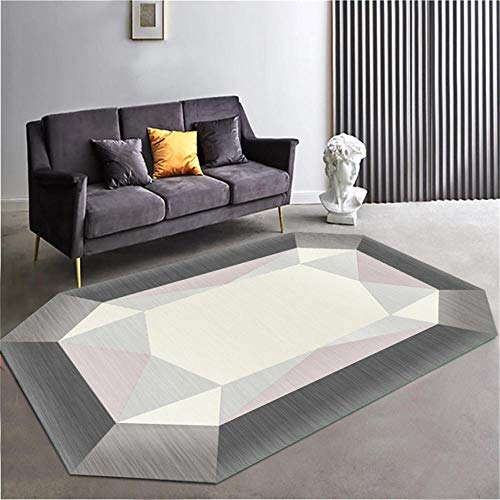 Cat Rug Gray irregular geometric pattern simple anti-dirty oval rug anti-slip Big Carpet Rugs For Boys Bedroom grey 180X280CM