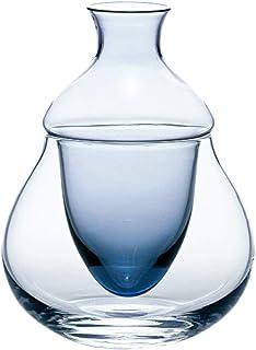 東洋佐々木ガラス 冷酒器 ブルー 11×11×14.5cm、口径:3.8cm