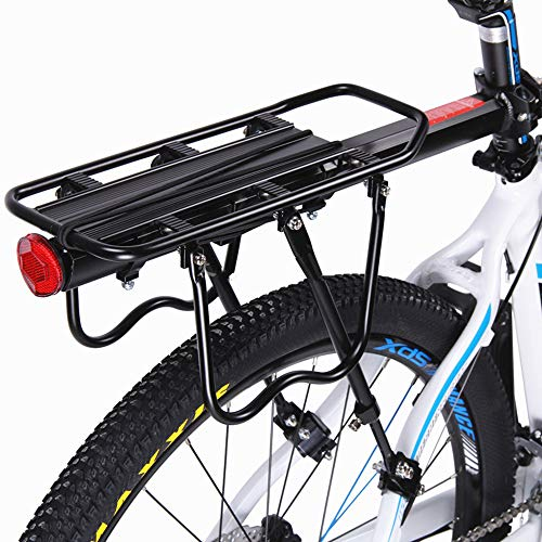 Sale!! Wecnday-Sport Bike Rack Bicycle Pannier Rack Bike Cargo Racks Mountain Carrier Rear Rack Seat Load 50Kg Luggage Bags for Cycling Cycling Accessory