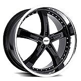 TSW Jarama Custom Wheel Gloss - Black with Mirror Cut Lip 19' x 8', 40 Offset, 5x114.3 Bolt Pattern, 76mm Hub