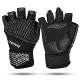 ODLICNO Fitness Handschuhe Trainingshandschuhe Fitnesshandschuhe mit Handgelenkschutz Gym Workout...