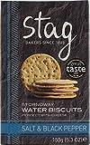 Crackers de agua de Stornoway con sal y pimienta negra Stag Bakeries.