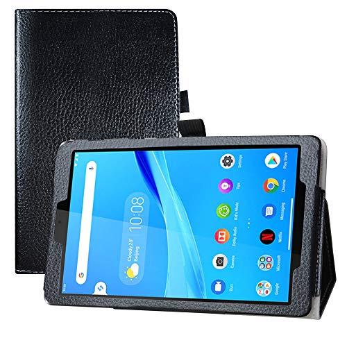 LFDZ Lenovo Tab M8 FHD Funda,Soporte Cuero con Slim PU Funda Caso Case para 8' Lenovo Tab M8 FHD (2nd Gen) TB-8705F Tablet(Not Fit Lenovo Tab M8 HD (2nd Gen) /Smart Tab M8 (TB-8505F)),Negro