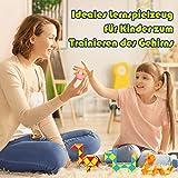 WEARXI Mitgebsel Kindergeburtstag - 24er 24 Blöcke Magische Schlange 3D Puzzle Spielzeug Knobelspiele Kinder, Give Aways Kindergeburtstag Gastgeschenke Jungen Magische Kinder Party Zufällige Farben - 6