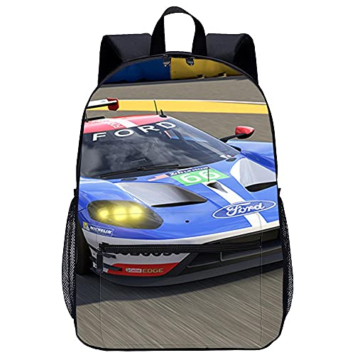 Mochila 3D Mochilas Escolares para Niñas y Niños de-Forza Motorsport 6-Adecuado para: estudiantes de primaria y secundaria, la mejor opción para viajes al aire libre-Tamaño: 45x30x15 cm / 17 pulgada