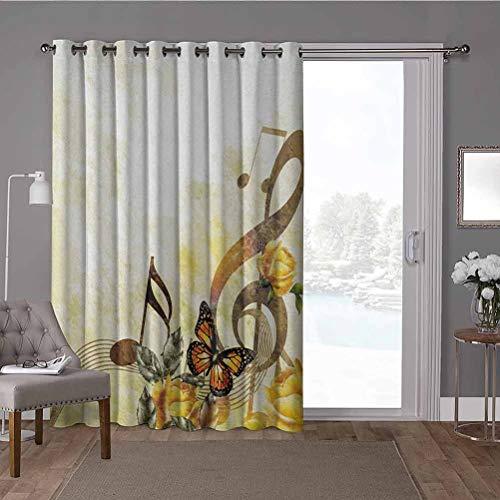 YUAZHOQI - Cortinas divisorias para habitación dividida (100 x 200 cm), diseño floral victoriano