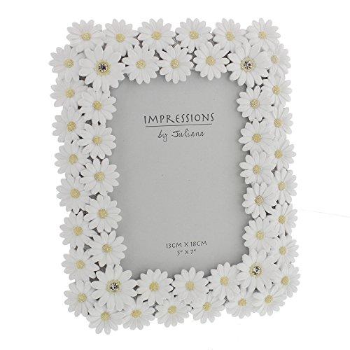 Juliana Impressions ™ Luxury White Daisy Photo Frame With Crystal...