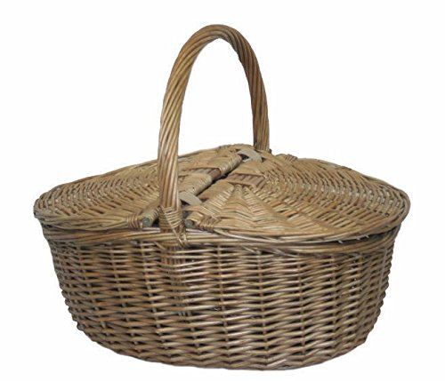 Red Hamper Antique Gris Ovale Panier Pique-Nique
