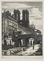 Charles Meryonジクレープリント アート紙 アートワーク 画像 ポスター 複製(リトルブリッジ)
