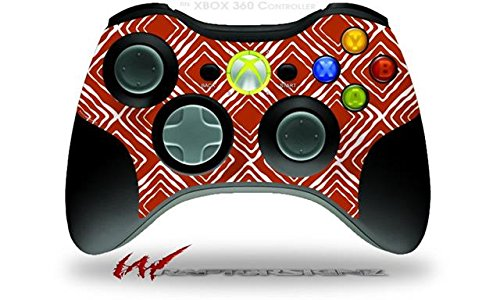 XBOX 360 Wireless Controller Decal Style Skin - Wavey Red Dark (CONTROLLER NOT INCLUDED)
