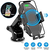 Wireless Car Charger Mount Sensor Auto Clamping 10W Fast Charge Air Vent Phone Holder Compatible with iPhone 11 Pro Max/Xs/Max/XR/X/8/Plus, Samsung S10/S9/S8 & All Qi Deviceby KALULI (Black)