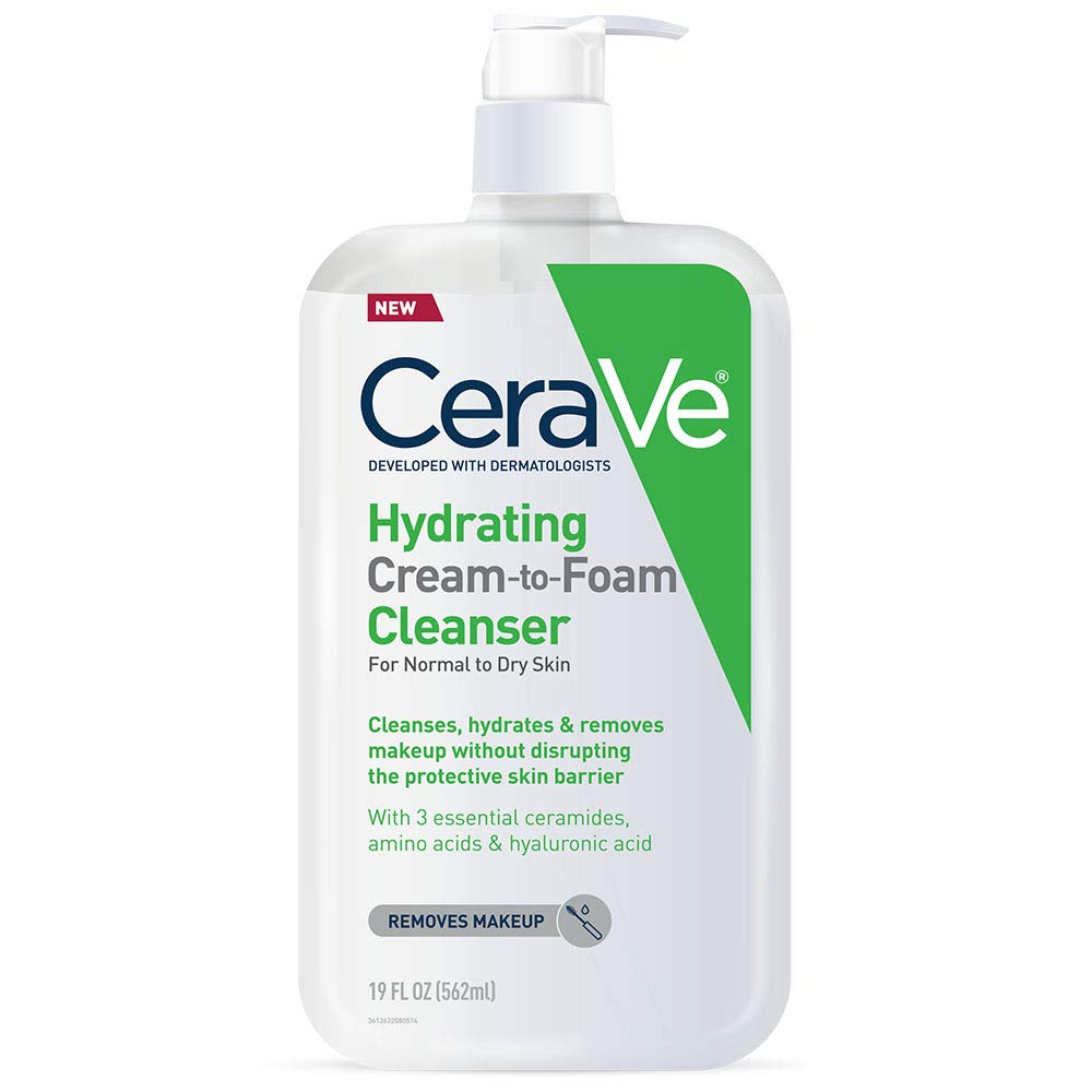 CeraVe Hydrating Bombing free shipping Cream-to-Foam Cleanser and Makeup Fac Manufacturer direct delivery Remover