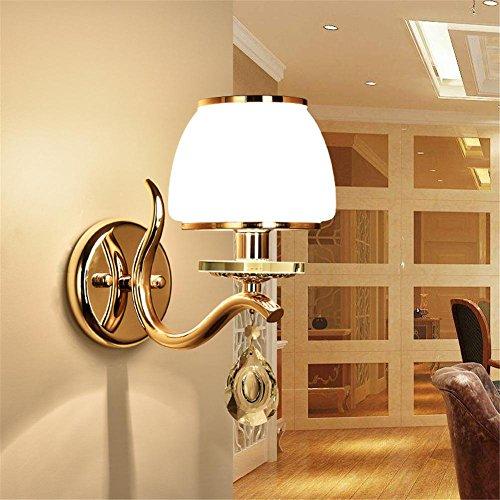 Atmko®Applique Murale Lampe murale style simple moderne Lampe de fer Cristal Art Salle de séjour Chambre à coucher Restaurant Aisle Applique murale décorative, single head