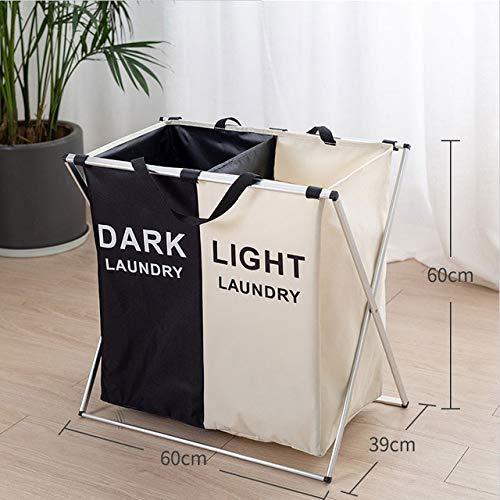 Mdsfe Faltbarer Wäschekorb Organizer für schmutzige Kleidung Wäschekorb großer Sortierer Zwei oder DREI Gitter Faltbarer Faltkorb - 2 Gitter, a1