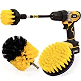 Holikme 4 Pack Drill Brush Power Scrubber Cleaning Brush Extended Long Attachment Set All Purpose Drill Scrub Brushes...
