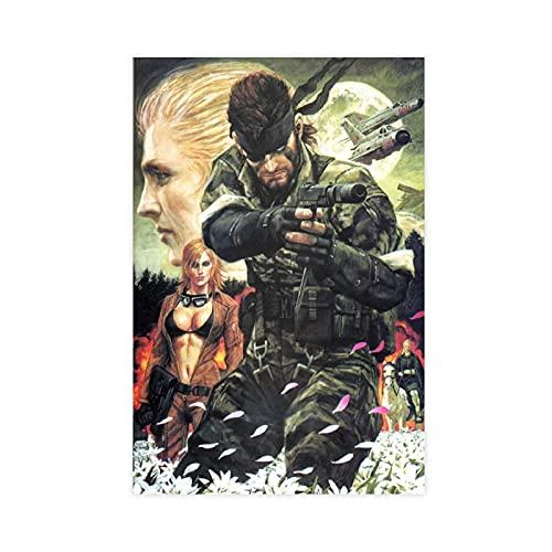Metal Gear Solid 3 Snake Eater Game Poster di tela per camera da letto, decorazione per lo sport, paesaggio, ufficio, decorazione da regalo, 30 x 45 cm
