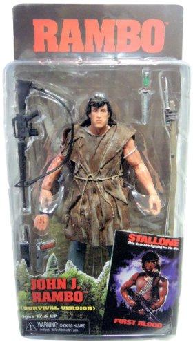 NECA Rambo - Survival 17 cm Fig.
